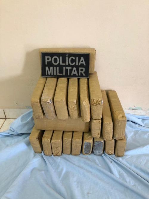 Polícia Militar apreende adolescente com 23 tabletes de maconha em Ponta Porã