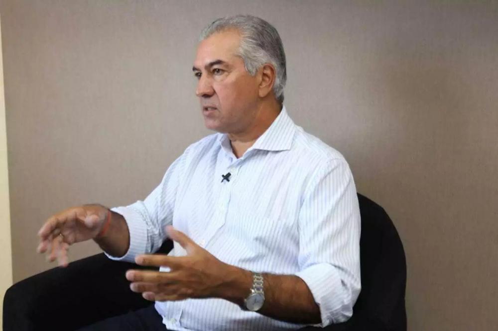 Governador Reinaldo Azambuja durante entrevista ao Campo Grande News em janeiro. (Foto: Arquivo)