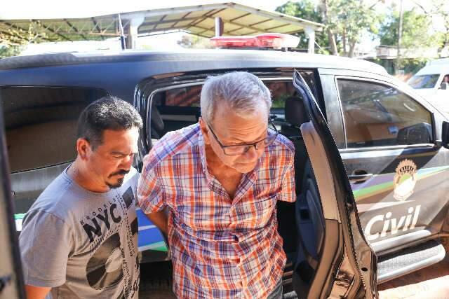 Alberto Rondon chegando ao Centro de Triagem em outubro do ano passado. (Foto: Paulo Francis)