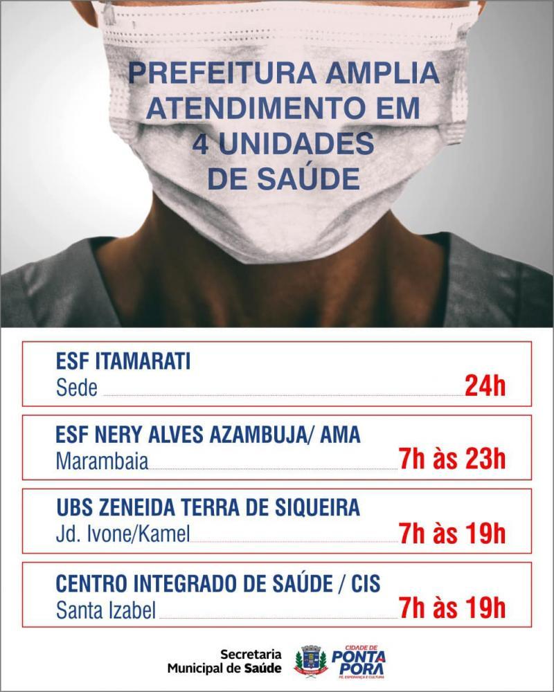 Unidades de Saúde estão com horário ampliado de atendimento à população