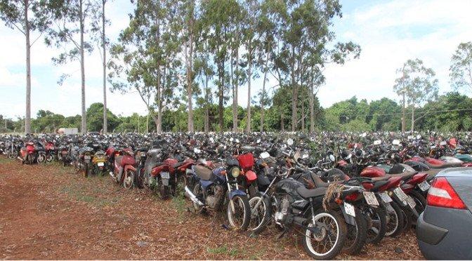 Veículos disponíveis para leilão são motos e carros | Foto ilustrativa | Divulgação | Detran-MS