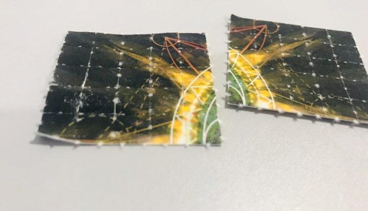 Cartelas de LSD apreendidas pelos policiais. Foto: Divulgação