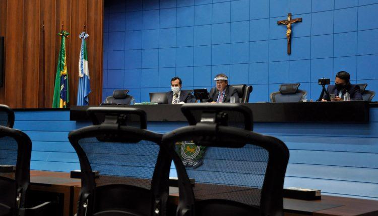 Sessão realizada nesta quarta-feira (8) por videoconferência. (Luciana Nassar, Alems)