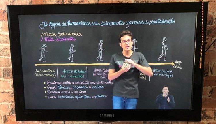 Alunos contam com aulas online e pela TV. (Foto: Guilherme Cavalcante/Midiamax)