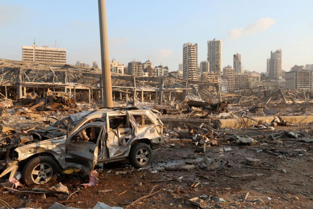 Destruição causada por explosão em Beirute, no Líbano Foto: Mohamed Azakir/Reuters (4.ago.2020)