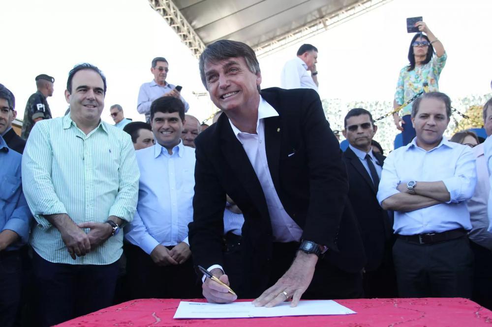 Bolsonaro durante a visita a Mato Grosso do Sul em 2017. (Foto: Arquivo/Campo Grande News)