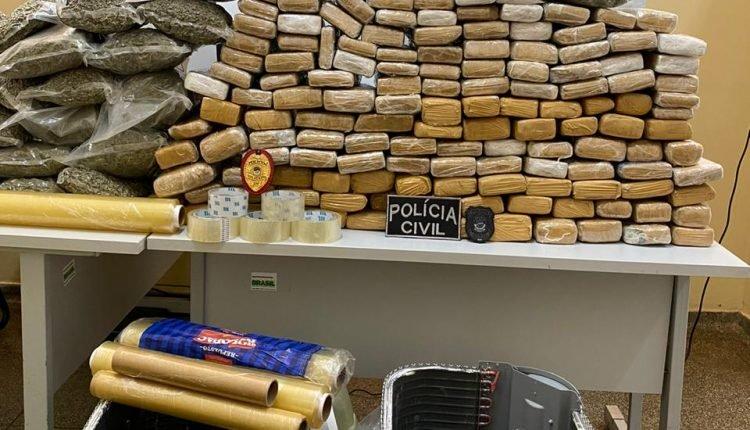 Droga foi apreendida / Foto: Divulgação, Polícia Civil