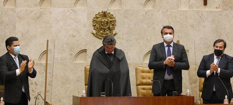 Cerimônia de posse do ministro Luiz Fux como presidente do STF.(Foto: reprodução/Fellipe Sampaio /SCO/STF)