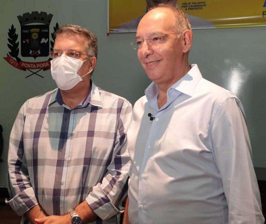 Hélio Peluffo e Eduardo Campos, candidatos a prefeito e vice da coligação
