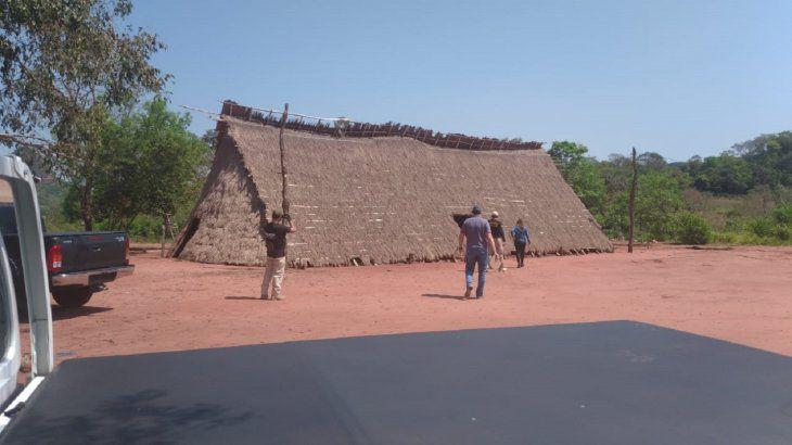 Comunidade indígena paraguaia na fronteira com MS. (Foto: Divulgação).