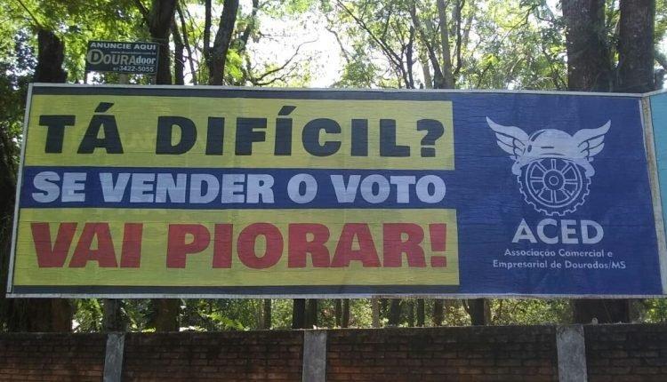 Campanha já está nas ruas da cidade. (Foto: Marcos Morandi)