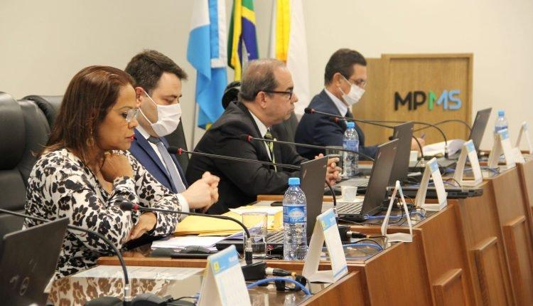 Reunião entre procuradores do MPMS (Foto: Divulgação/MPMS)