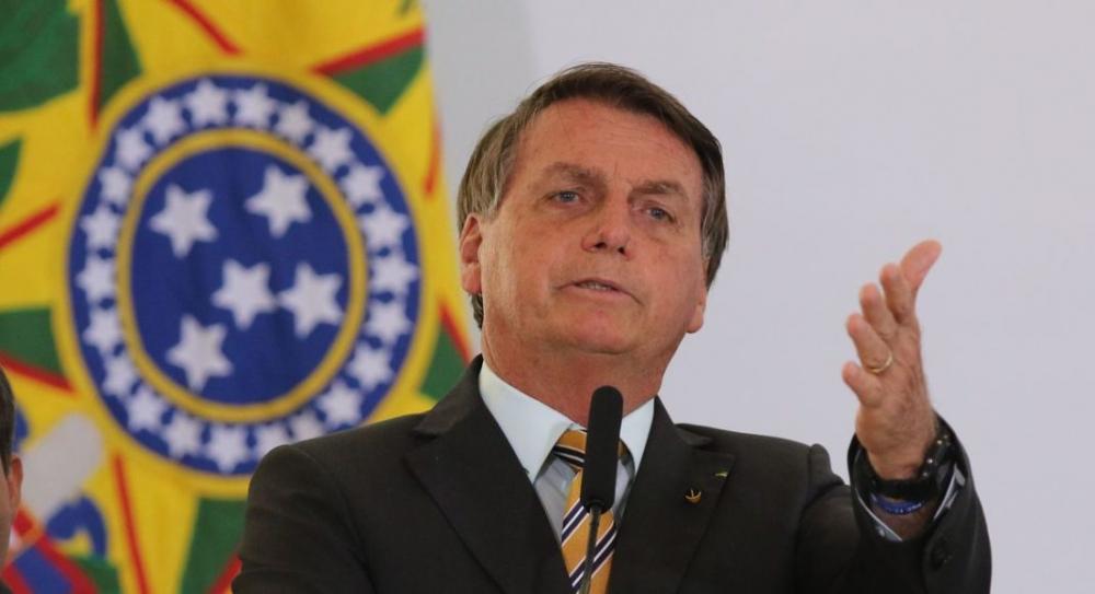 O Presidente Jair Bolsonaro, durante evento de lancamento da Retomada do Turismo. Aliança nacional que, com segurança e responsabilidade, busca acelerar a recuperação do setor e reduzir o impacto socioeconômico da Covid-19 após a paralisação das atividade