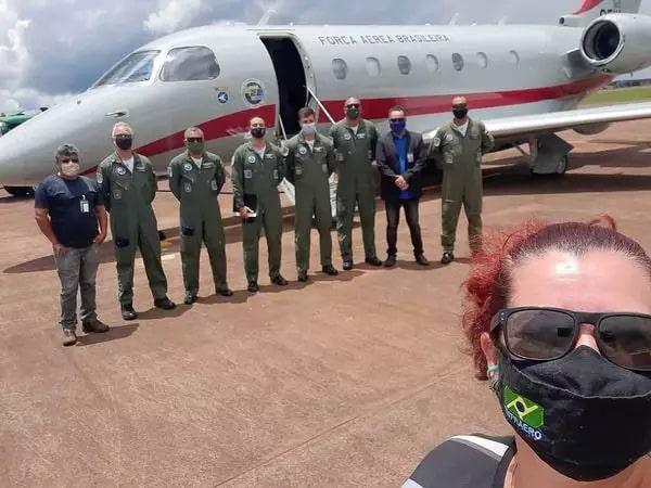Equipe da FAB em Ponta Porã, para inspeção aérea (Foto/Divulgação)