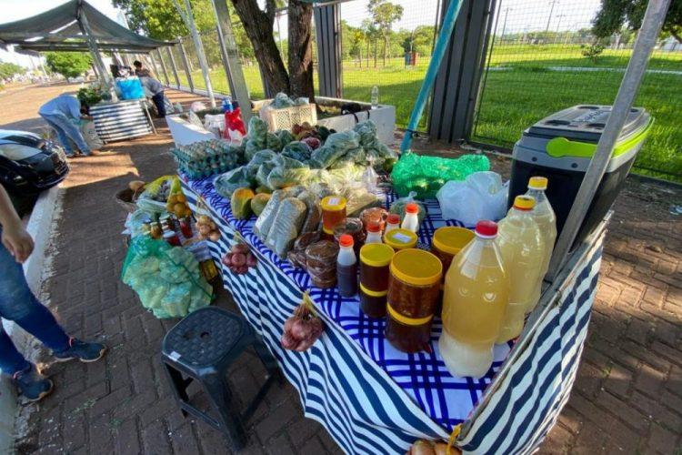 Feira serve para que os membros da Agricultura Familiar possam vender seus produtos orgânicos; Foto: Divulgação/Assessoria