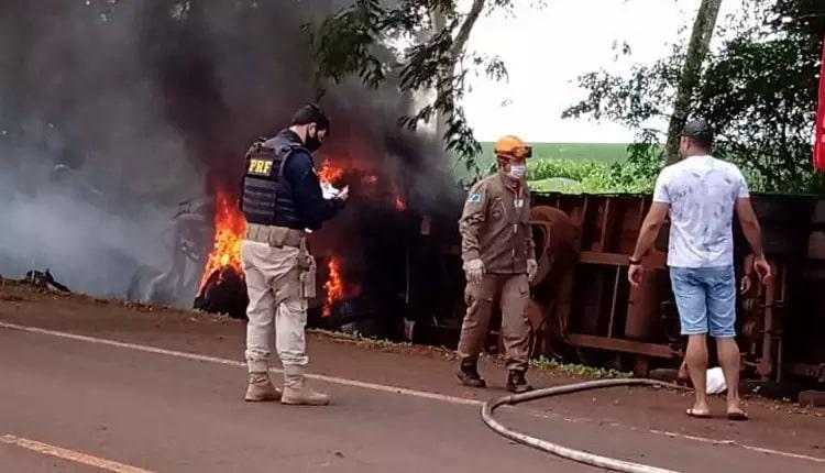 Local onde aconteceu o acidente com o militar do Corpo de Bombeiros. (Foto: Site Fatima em Dia)