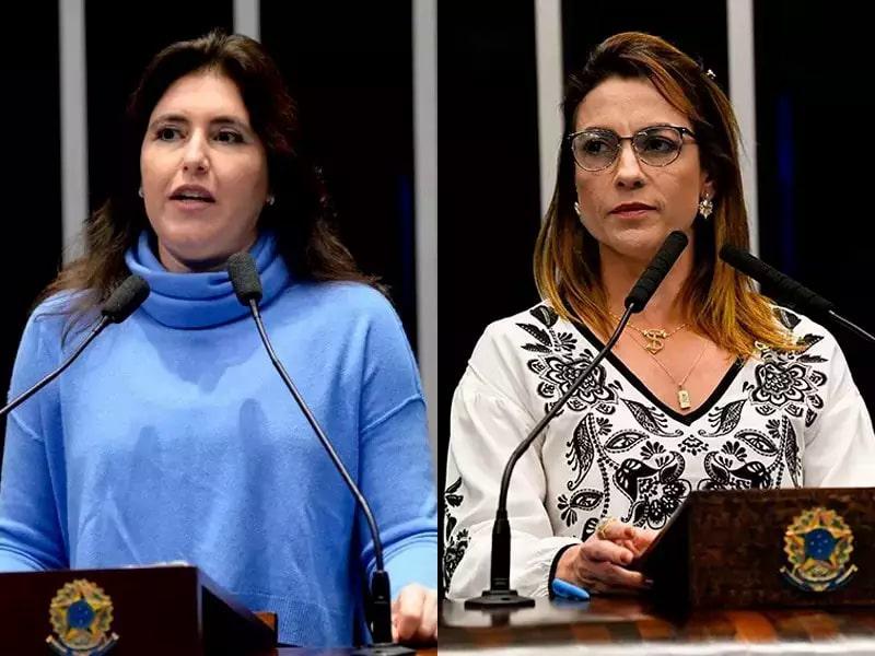 Senadoras Simone Tebet e Soraya Thronicke têm opiniões diferentes sobre o tema (Foto: Divulgação/Senado Federal)