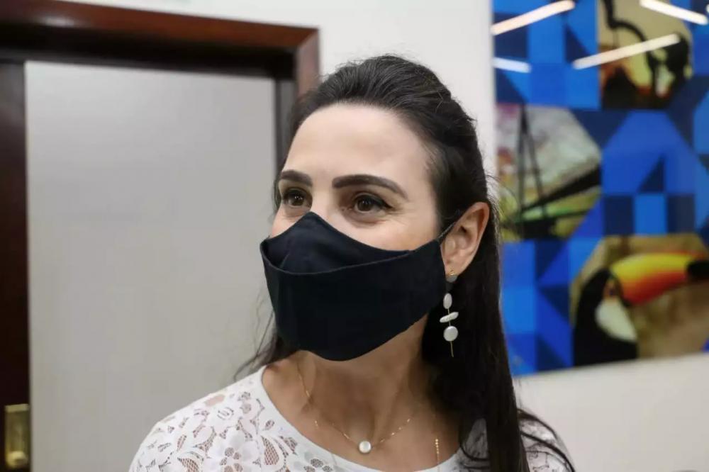 Deputada estadual Mara Caseiro durante entrevista (Foto: Paulo Francis/Arquivo)