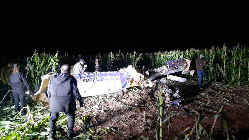 Aeronave foi encontrada em um milharal - (Divulgação)