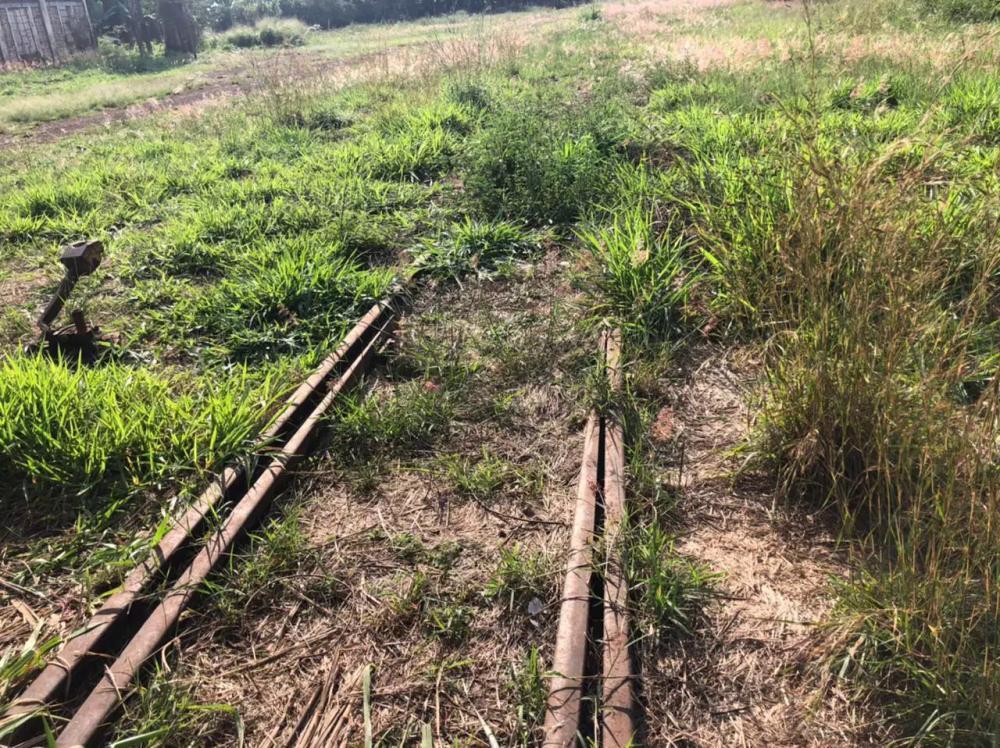 Parte do trilho que ficou em ferrovia desativada (Foto: Hosana de Lourdes)