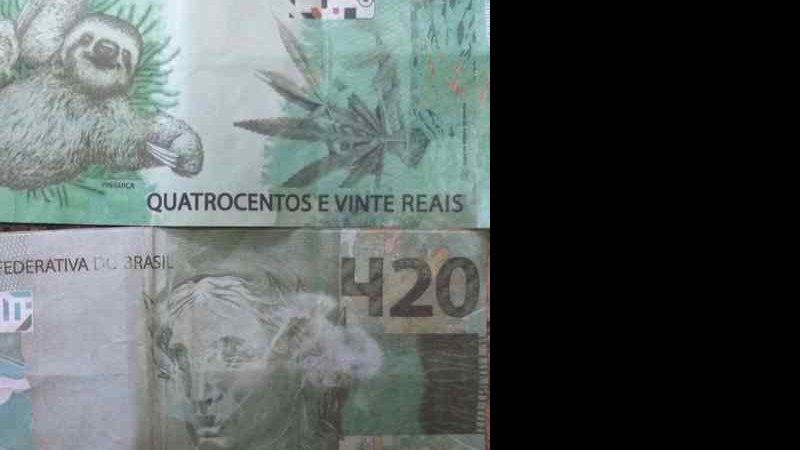 Idoso recebeu a cédula e deu troco de R$ 320 - (Foto: Divulgação/PM)