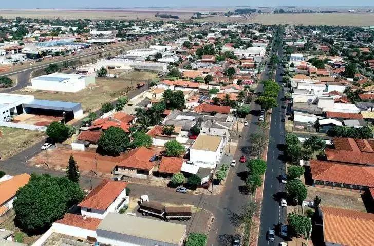 Vista aérea do município de Chapadão do Sul (Foto: Divulgação)