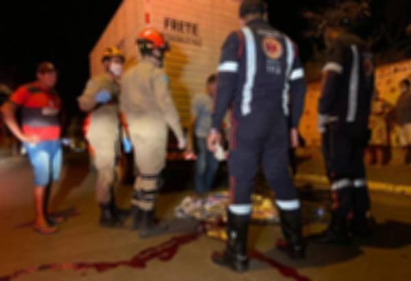 Vítima morreu no local do acidente - (Foto: Coxim Agora)