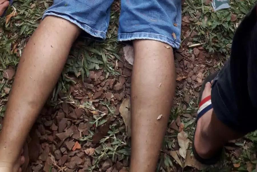 Homem foi executado em bairro movimentado de Pedro Juan Caballero. (Foto: Direto das Ruas)
