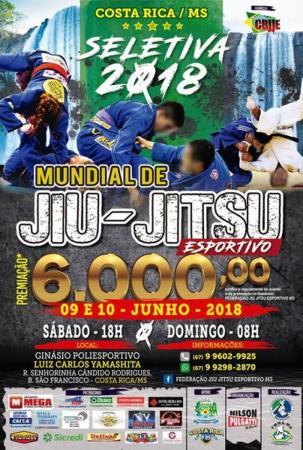 Costa Rica será sede da Seletiva para Mundial de Jiu-Jitsu em junho